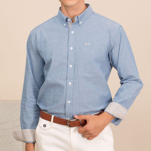 TWIST CHAMBRAY STRIPE SHIRT