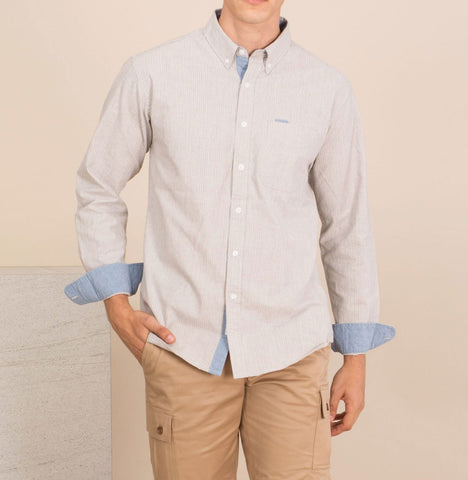 TWIST STRIPE CHAMBRAY  SHIRT