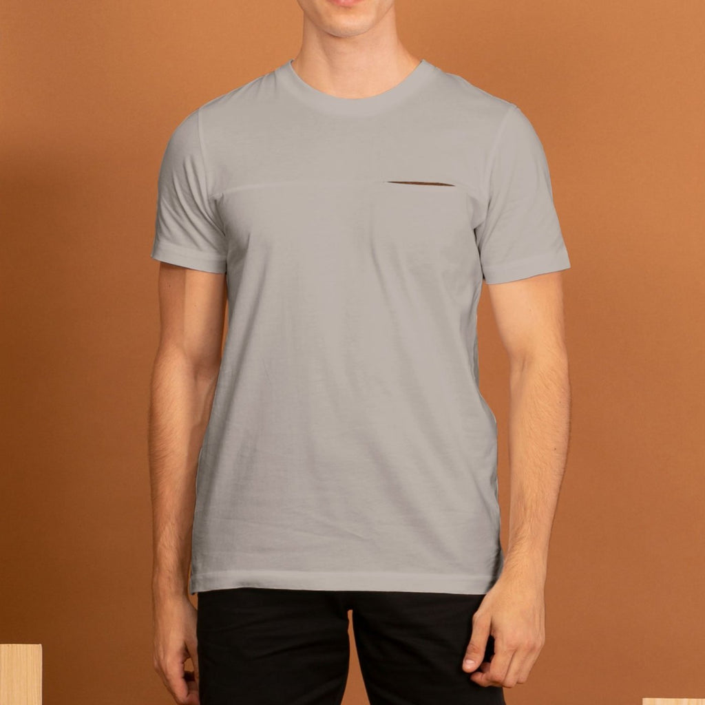 TWIST POCKET TEE - GREY