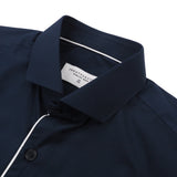 BROAD COLLAR SHIRT - NAVY