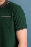 TAP POLO TEES - DARK GREEN