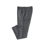 BRIT SQUARE WOOL PANTS - GREY