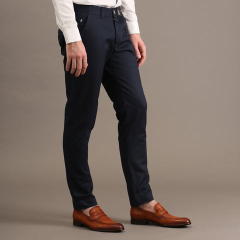 MATT CHINO PANTS-DARK BLUE