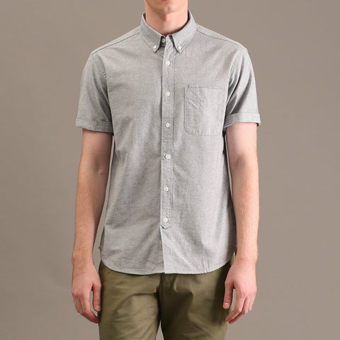 OXFORD SHORT SLEEVES SHIRT - GREY