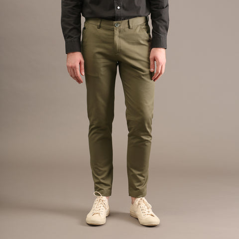 MATT CHINO PANTS-OLIVE GREEN