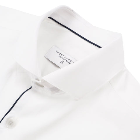 BROAD COLLAR SHIRT - WHITE
