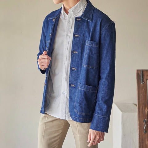WORK JACKET - DENIM BLUE
