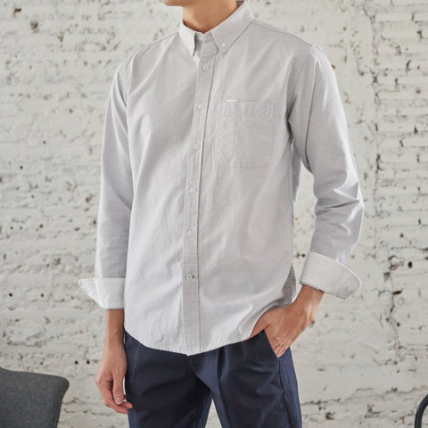BROOK OXFORD SHIRT - GREY