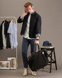 MINIMAL DENIM JACKET-BLACK