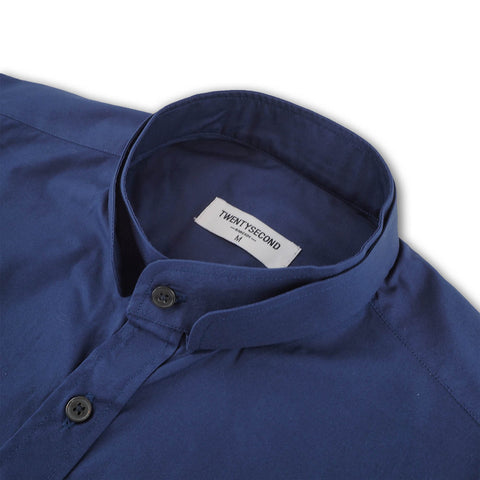 DARK BLUE DOUBLE CHINESE COLLAR
