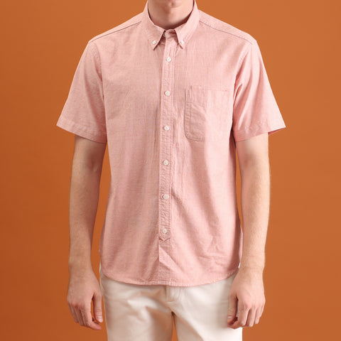 OXFORD SHORT SLEEVES SHIRT - ORANGE