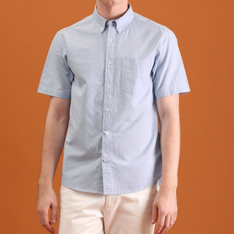 OXFORD SHORT SLEEVES SHIRT - BLUE