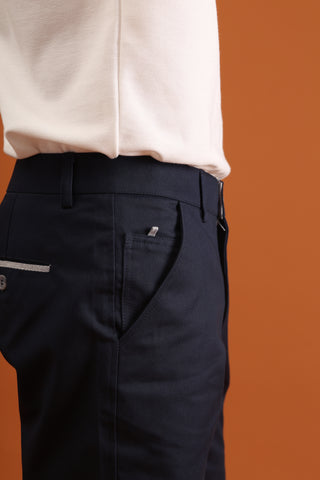 MATT DARK BLUE SHORTS - EXTRA CHINO SHORTS