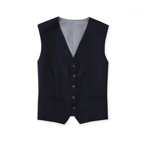 ITALIAN WOOL VEST - DARK BLUE