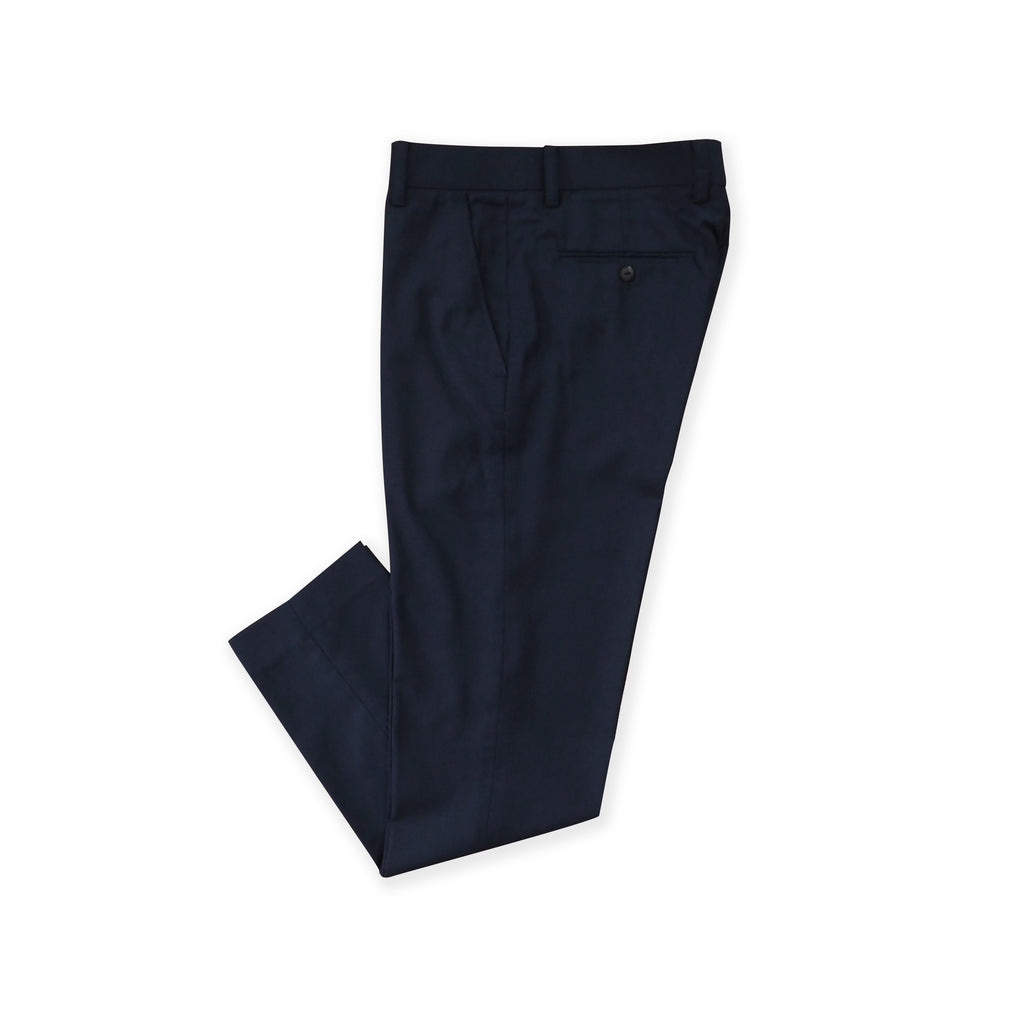 ITALIAN WOOL PANTS - DARK BLUE