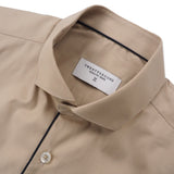 BROAD COLLAR SHIRT - KHAKI