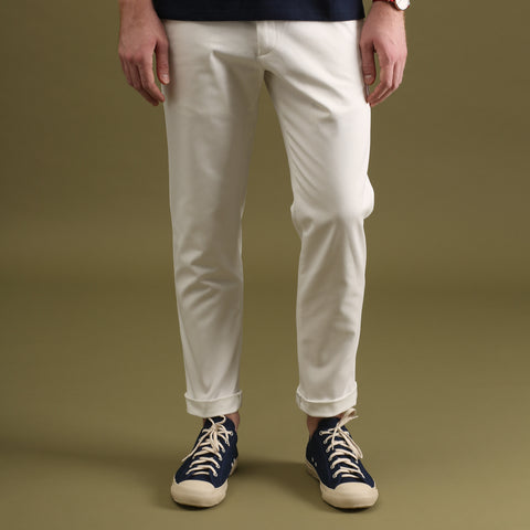 MATT CHINO PANTS-WHITE