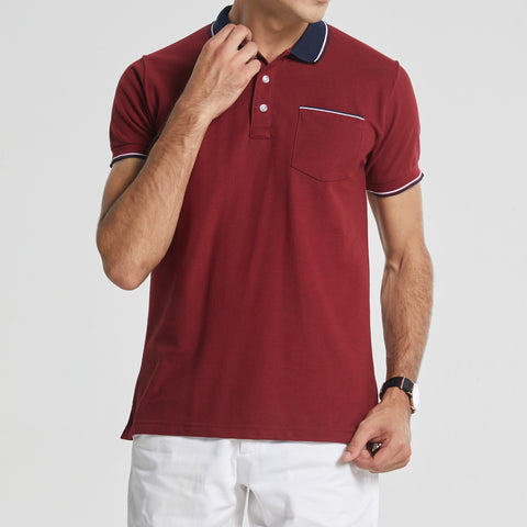 TAP POLO TEES - RED