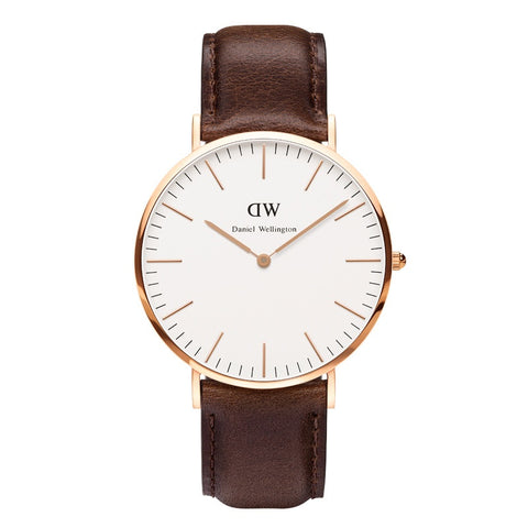 Classic Black Cornwall 36mm Rose gold