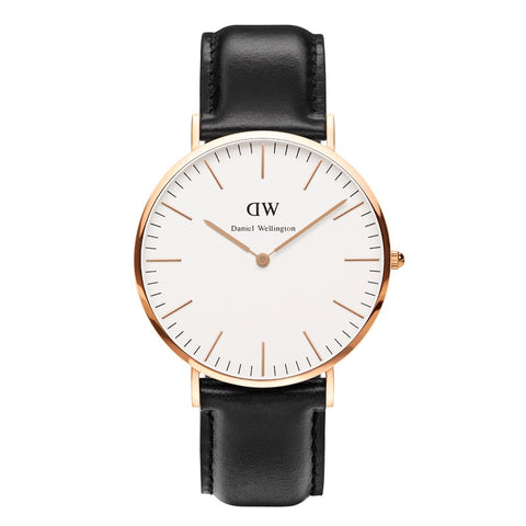 Classic Black Durham 36mm Rose gold