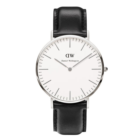 Classic Black Sheffield 40mm Silver