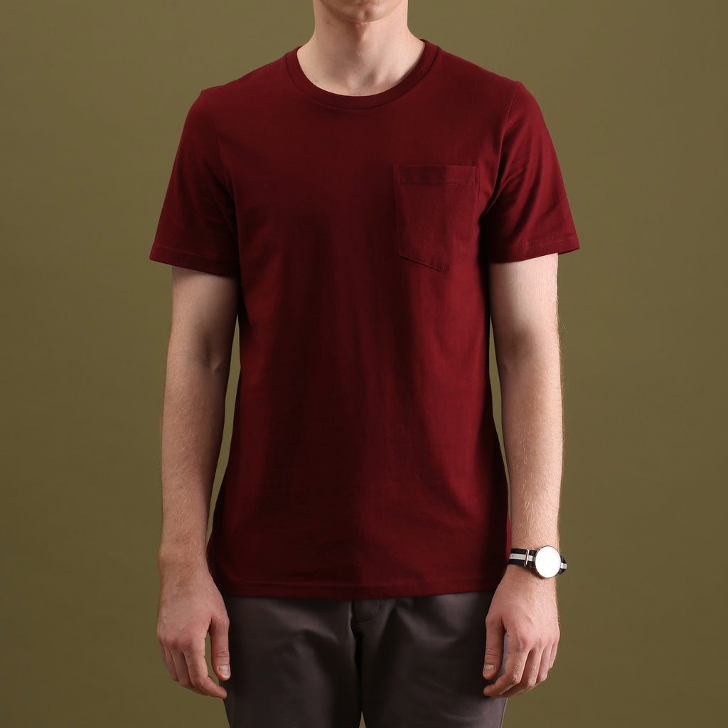 CLASSIC POCKET TEES : RED