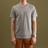CLASSIC POCKET TEES : HEATHER GREY
