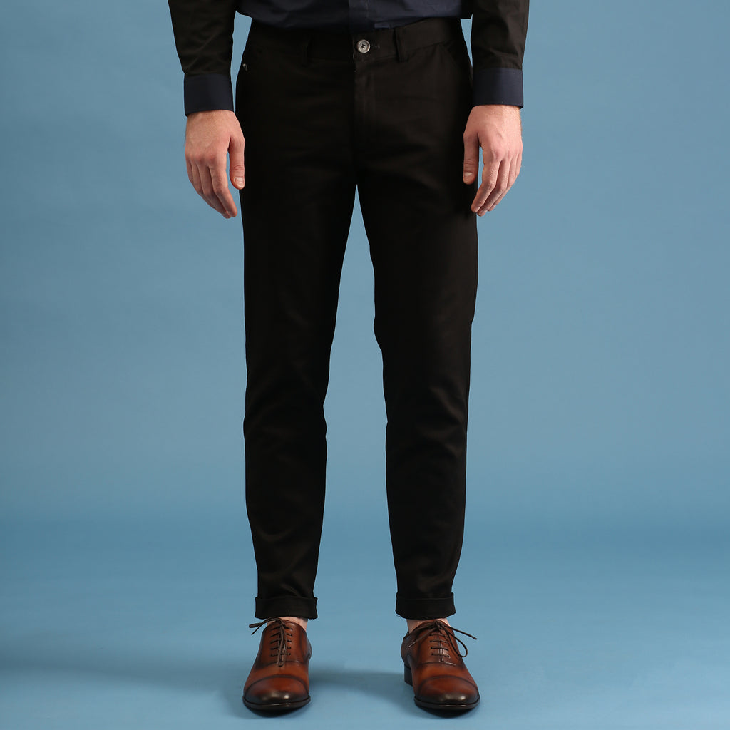 MATT CHINO PANTS-BLACK
