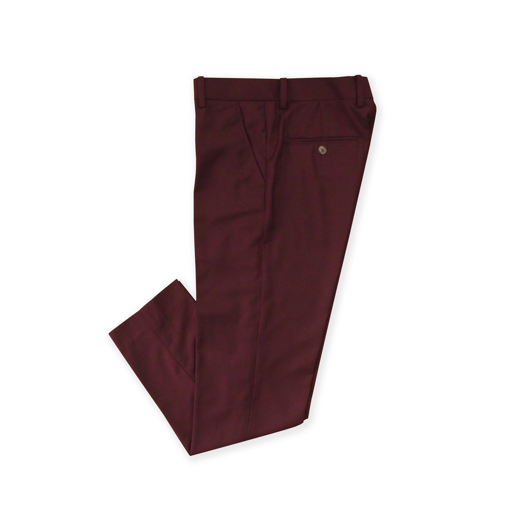 ITALIAN WOOL PANTS - MAROON