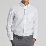 FLAG OXFORD SHIRT - WHITE