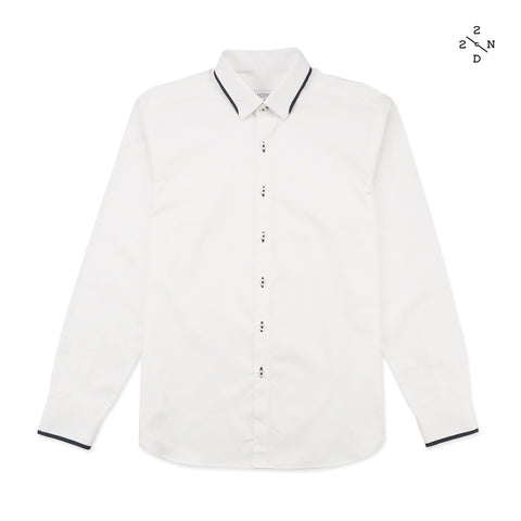STITCH COLLAR SHIRT - WHITE