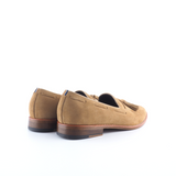 Tan Tasselled Suede Loafers