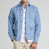 MINIMAL DENIM JACKET-LIGHT BLUE