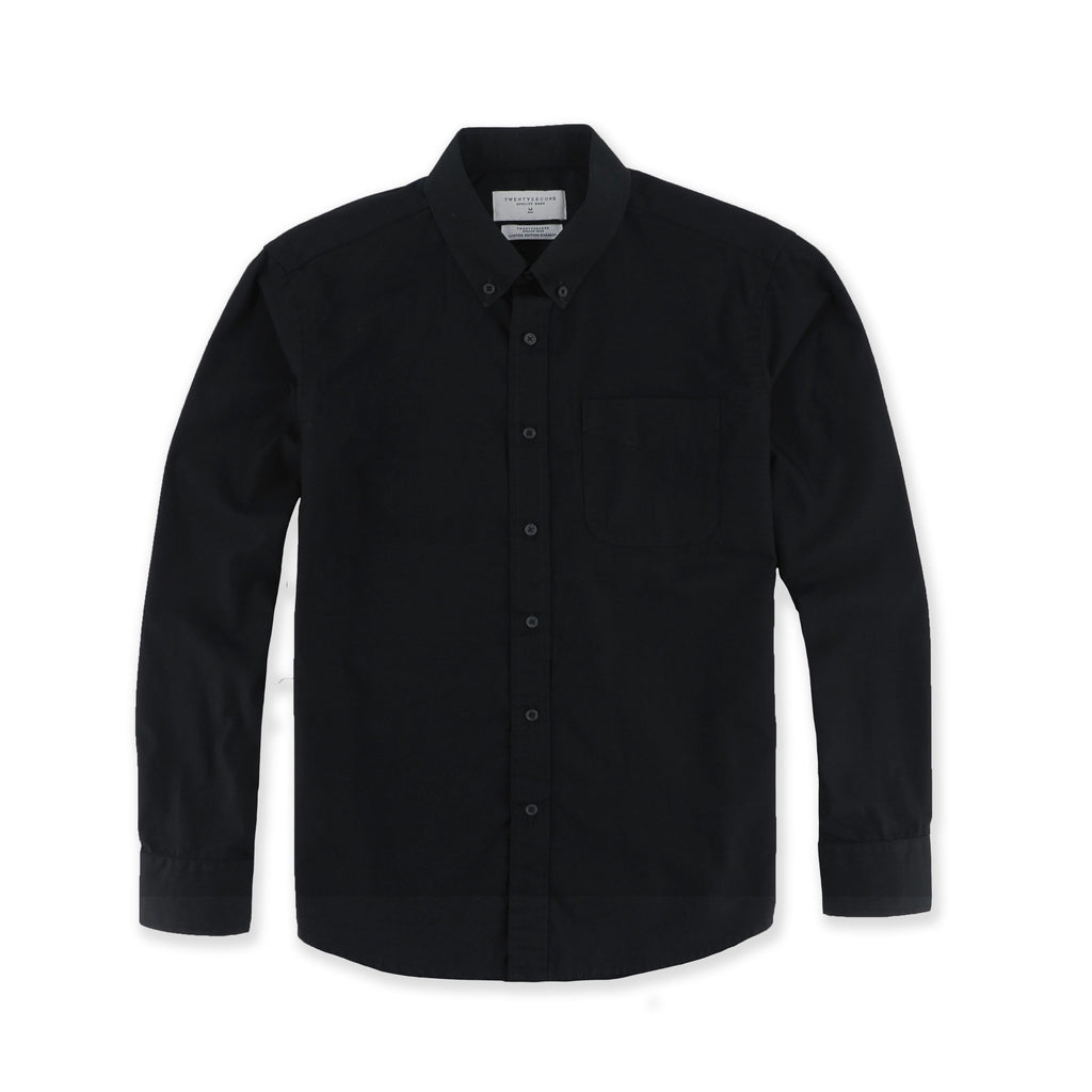 BASIC BUTTON DOWN - BLACK