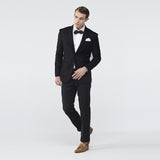 Black Italian Wool Suit Jacket