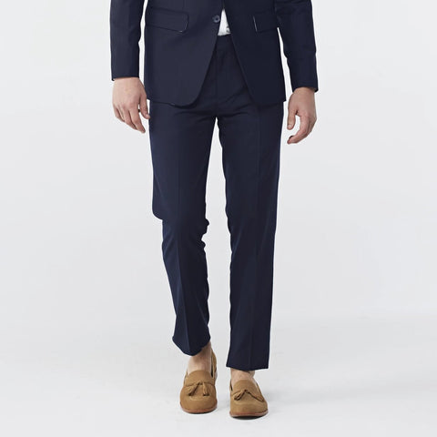 Italian Wool Tailor Pant :Dark blue