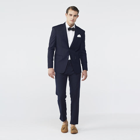 ITALIAN WOOL SUIT - DARK BLUE