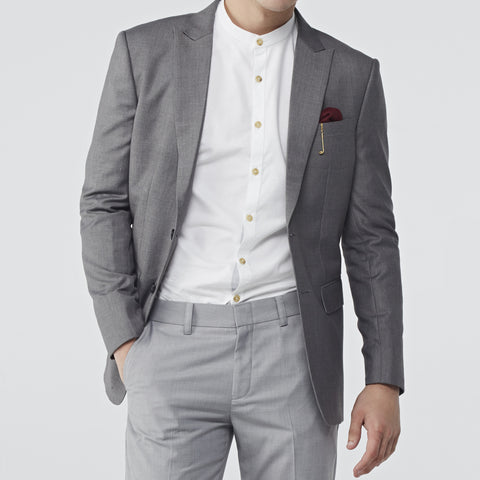 ITALIAN WOOL SUIT - GREY