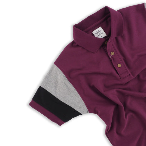 The Signature Polo tees-Block Violet