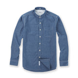 CHAMBRAY DETACHABLE COLLAR NAVY