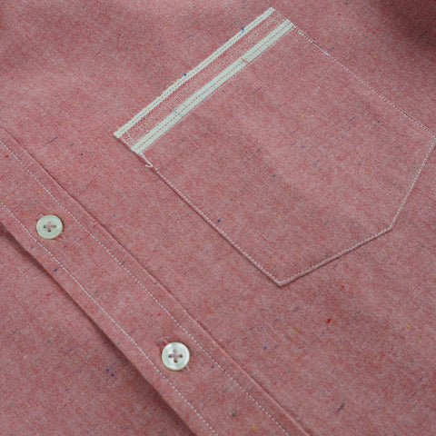 CHAMBRAY LONG SLEEVES - RED