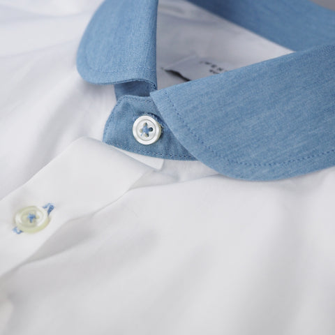WHITE CLUB CHAMBRAY COLLAR