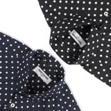 BLACK COTTON POLKA DOT SHIRT