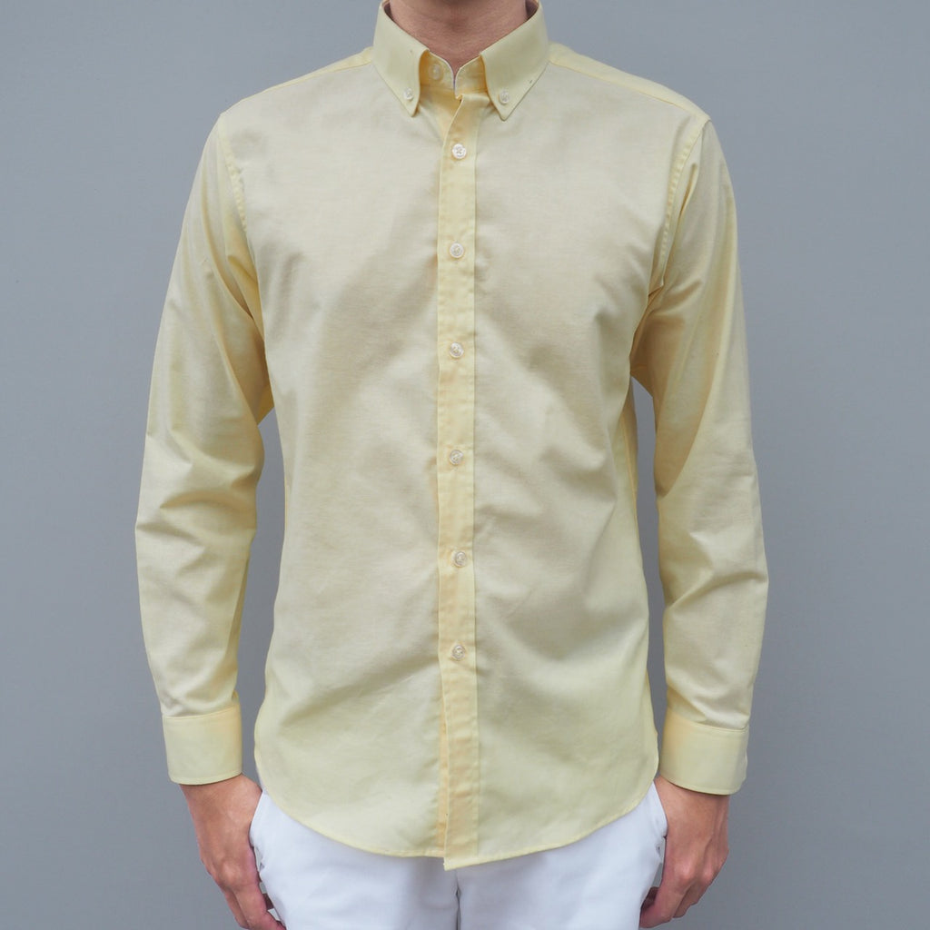 CASUAL OXFORD SHIRT - YELLOW