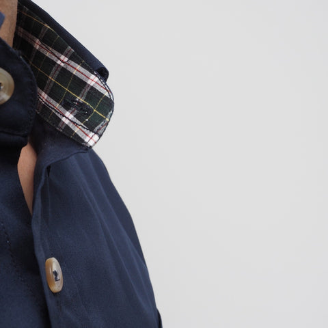CLASSIC COTTON CHECK - NAVY