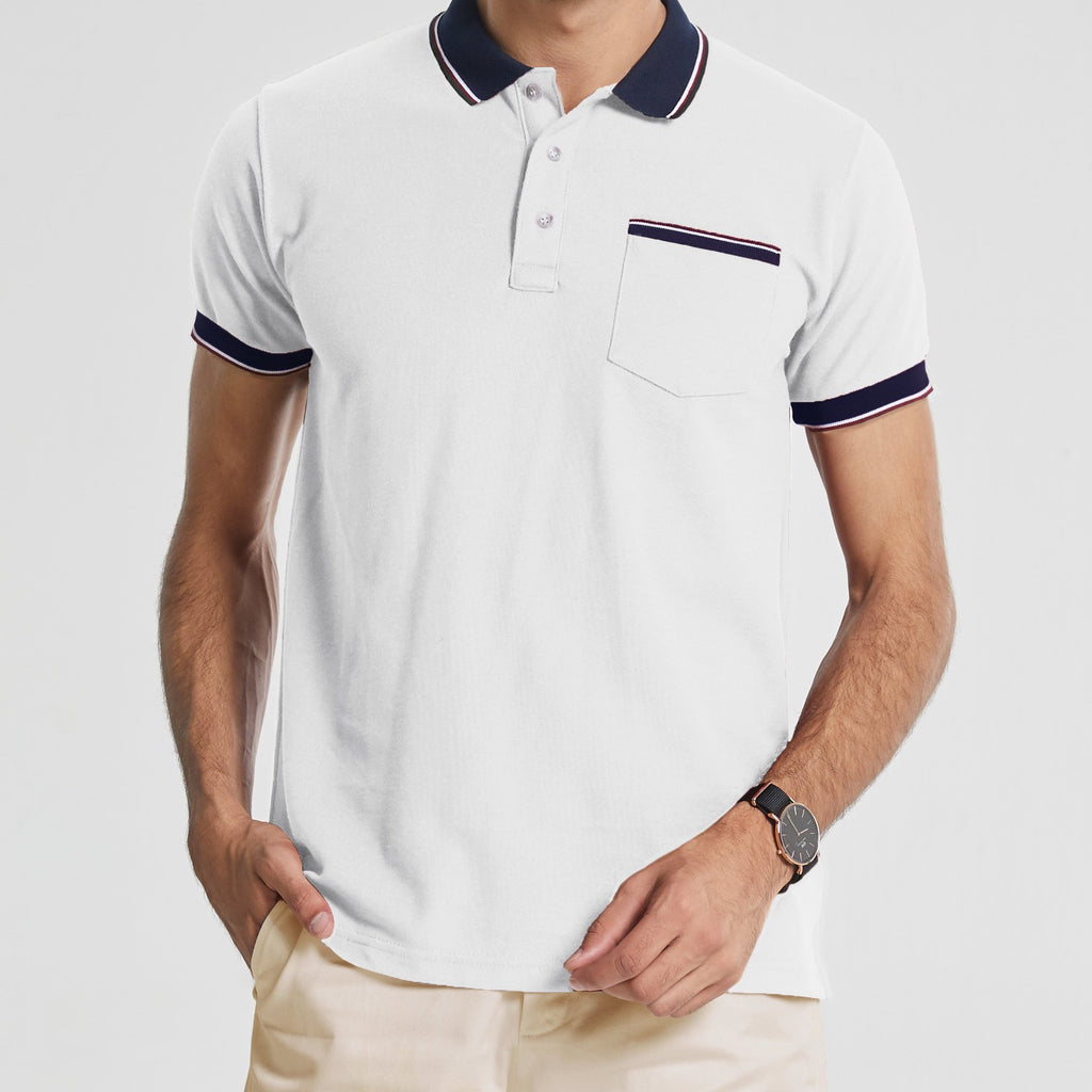 TAP POLO TEES - WHITE