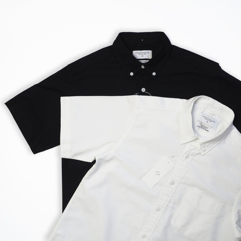 OXFORD SHORT SLEEVES SHIRT - BLACK