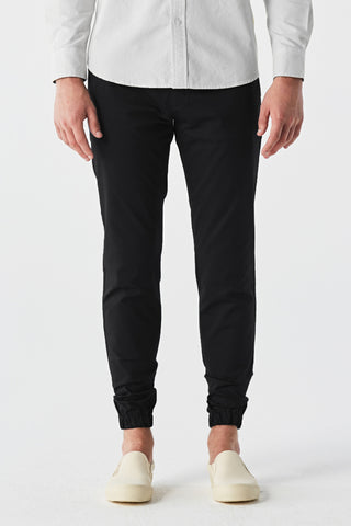 Black twill Jogger pants