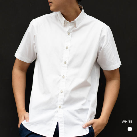 LUKAS COTTON SHIRT - WHITE