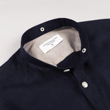 LINEN DETACHABLE COLLAR-NAVY BLUE